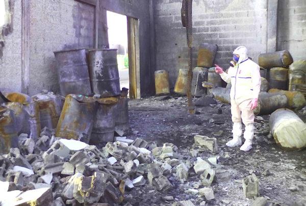 CURIUM a sécurisé un entrepôt sinistré de déchets dangereux et a reconditionné et éliminé les déchets amiantés et chimiques inflammables