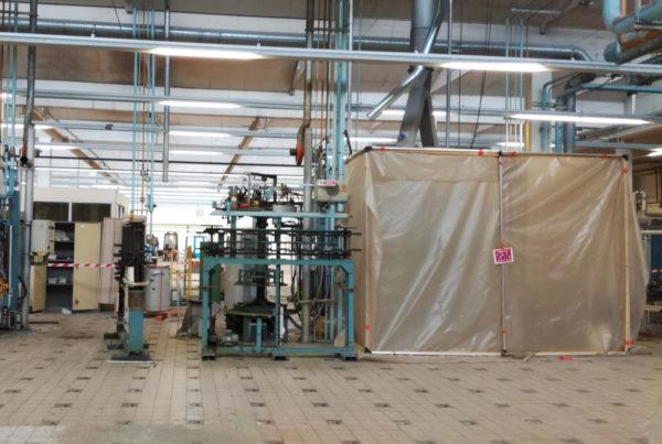 Décontamination mercure sur une ligne de production par CURIUM