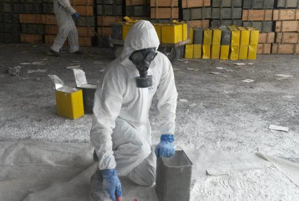 CURIUM a assisté l'OSCE pour le compte de la République d'Albanie pour le reconditionnement de déchets d'armes chimiques (napalm)